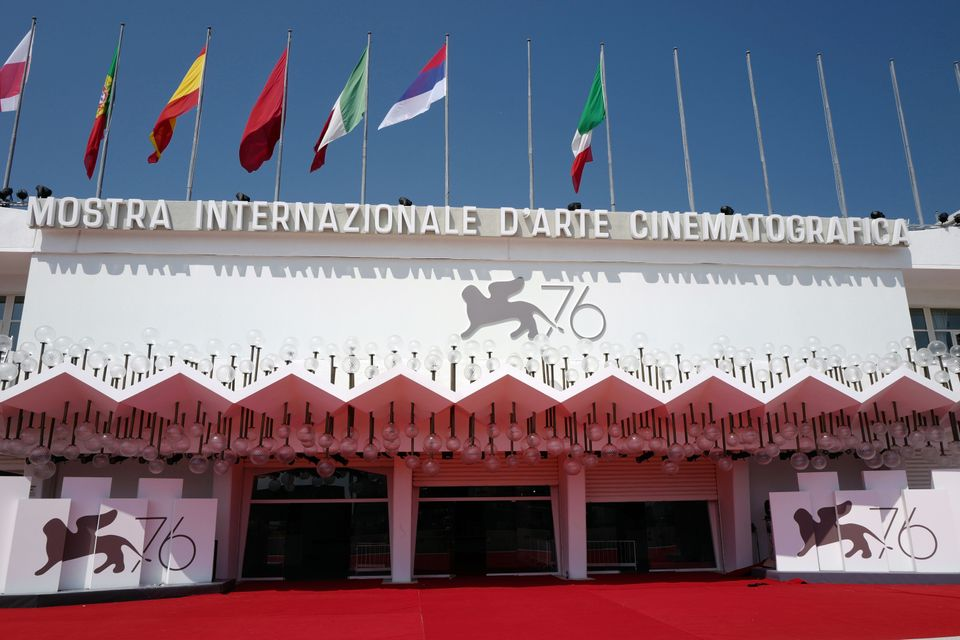 VENICE, ITALY - AUGUST 27: Atmosphere (Palazzo del Cinema) during the 76th Venice Film Festival at on...