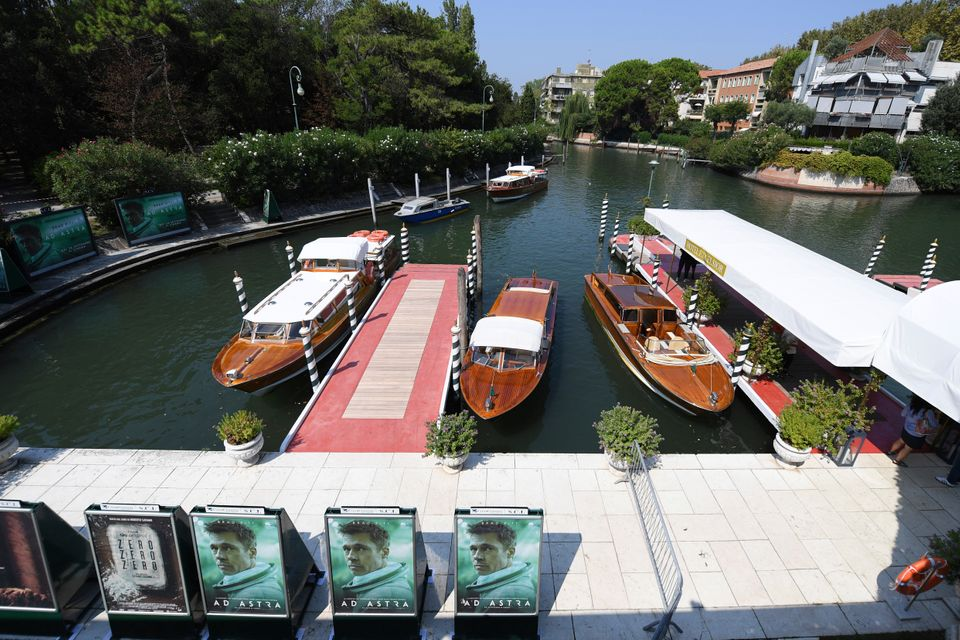 View of the Excelsior hotel dock at the 76th edition of the Venice Film Festival in Venice, Italy, Tuesday,...
