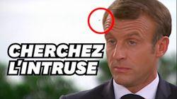 Macron embêté par une mouche en pleine interview avec