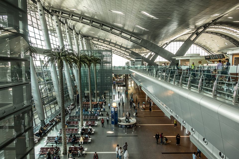 Doha,Qatar on Mar 5th 2018: Hamad International Airport is the airport of Doha, the capital city of Qatar....