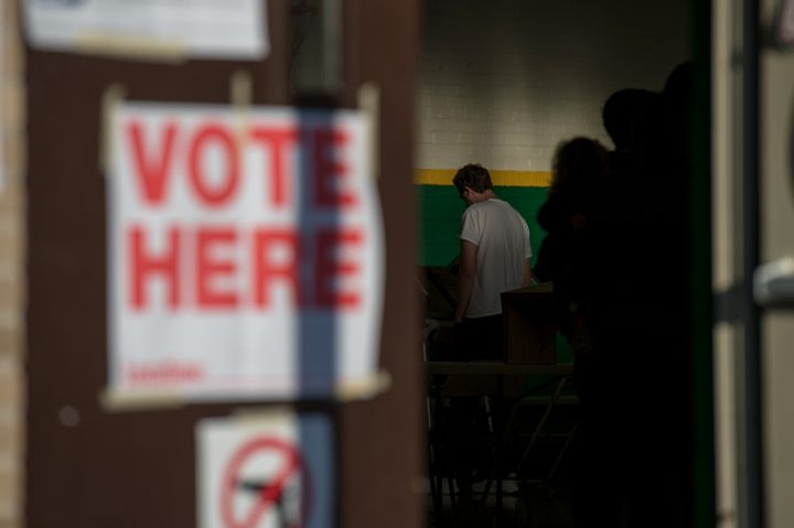 MEMPHIS, TN - NOVEMBER 6: Voters wait in line to cast their ballots on election day in Memphis, TN on November 6, 2018.  (Pho