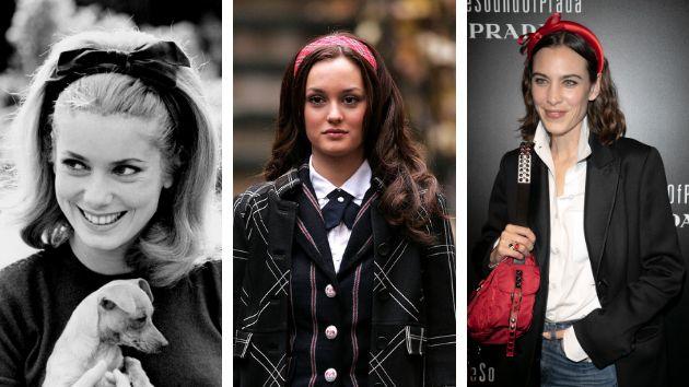 La actriz Catherine Denueve hizo suyas las diademas en los 60, Blair Waldorf las recuperó en 2007 y Alexa Chung ha sido una de las primeras en sumarse a la nueva ola.