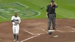 Seattle Mariner's Epic No-Look Glove Throw Hits Umpire In The