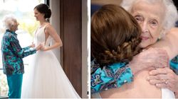 Her Grandma Couldn't Fly To Her Wedding, So This Bride Did The Next Best