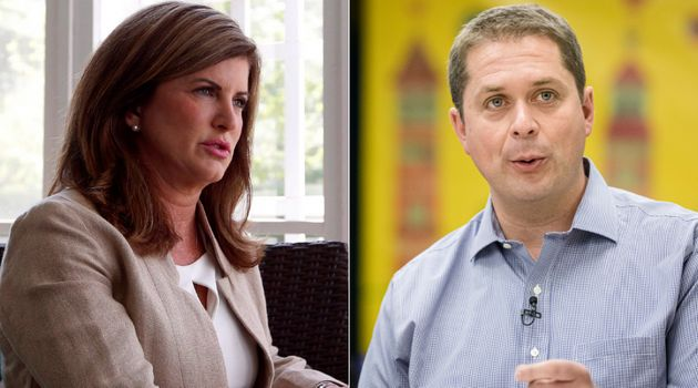 Former interim Conservative leader Rona Ambrose and current Tory Leader Andrew Scheer are shown in a...