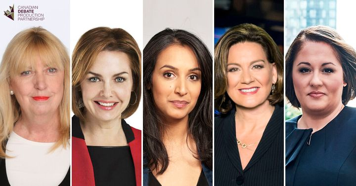 From left to right: Susan Delacourt, Dawna Friesen, Althia Raj, Lisa LaFlamme and Rosemary Barton.