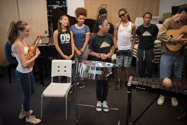 """Students from the Regent Park School of Music in Toronto perform """"Summer in the South,"""" their composition from """"Parkscapes"""" which is featured on Taylor Swift's song """"It's Nice to Have a Friend."""""""