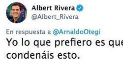 Rivera y Otegi se 'pican' en Twitter: