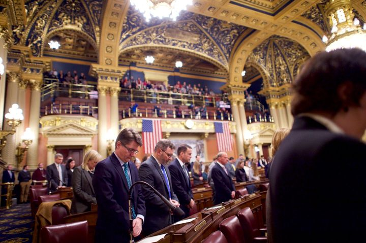 Prayer in the Pennsylvania House of Representatives on Dec. 19, 2016.