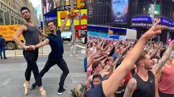 뉴욕에서 댄서 300명이 모여 항의의 춤을 췄다 (사진,