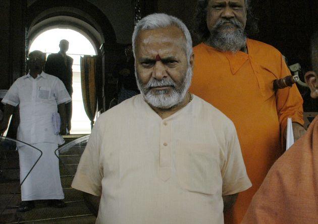 INDIA - MARCH 12: Yogi Adityanath, BJP Member of Parliament from Gorakhpur, Uttar Pradesh and BJP leader...