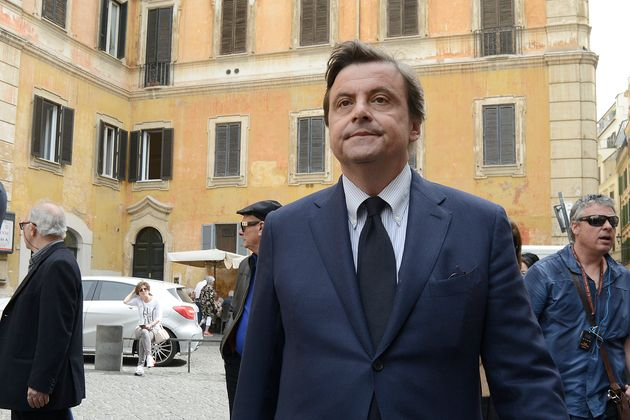ROME, ITALY - APRIL 26: Carlo Calenda attends the Presentation of the programme and the candidates of...