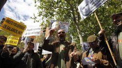 Primera protesta de militares contra el Gobierno de