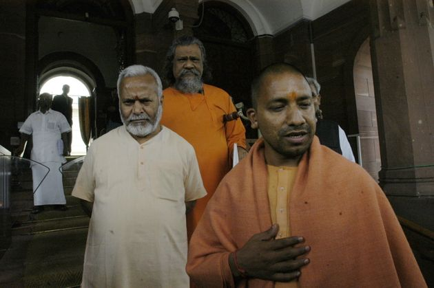 A 2007 photo of Yogi Adityanath with Swami Chinmayanand in New
