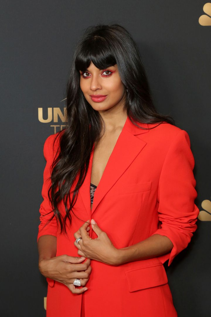 Jameela Jamil attends the NBC and Universal Television Emmy Nominee Celebration at Tesse on Tuesday, Aug. 13, 2019, in West Hollywood, Calif. (Photo by Willy Sanjuan/Invision/AP)