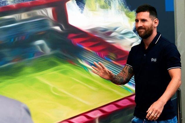 El argentino Leo Messi asiste a la inauguración del Estadi Johan Cruyff, situado en la Ciudad Deportiva...