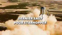 Le vol superbe de Starhopper, la navette de SpaceX qui servira à aller sur