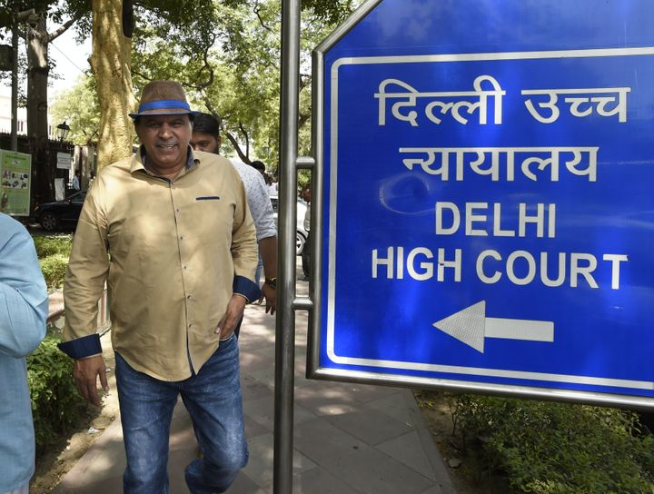 NEW DELHI, INDIA - MAY 17: Satpal Singh, coach and father-in-law of Wrestler Sushil Kumar, at Delhi High Court on May 17, 2016 in New Delhi, India. (Photo by Arvind Yadav/Hindustan Times via Getty Images)