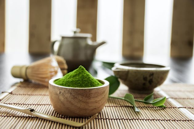 Matcha. Organic Green Matcha Tea ceremony. Matcha powder. Cooking with matcha,