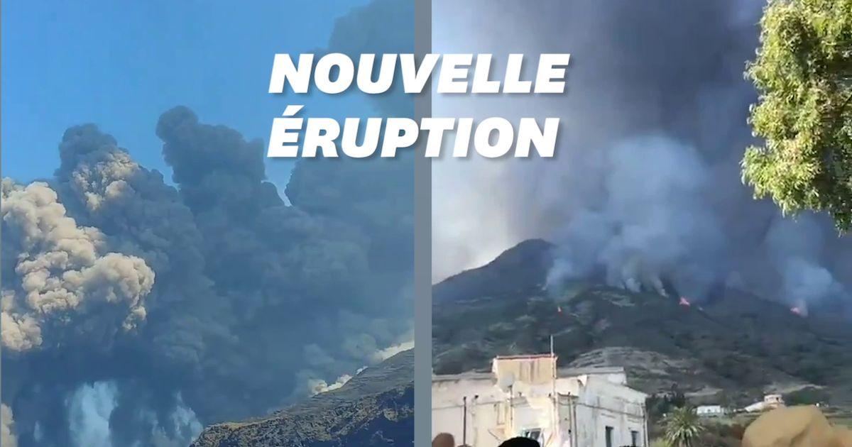 En Italie, le volcan Stromboli à nouveau en éruption