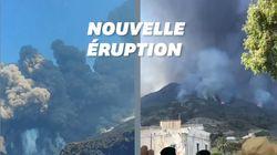 En Italie, le volcan Stromboli à nouveau en