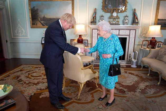 File photo dated 24/07/19 of Queen Elizabeth II inviting Boris Johnson to become Prime Minister and form...