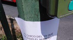 El genial cartel en un semáforo de A Coruña: una historia de amor que no llegó a