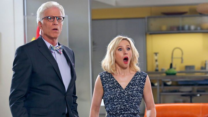 """Ted Danson and Kristen Bell on """"The Good Place."""""""