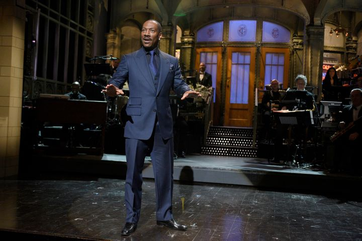 """Eddie Murphy on the 40th anniversary special of """"Saturday Night Live"""" in February 2015."""