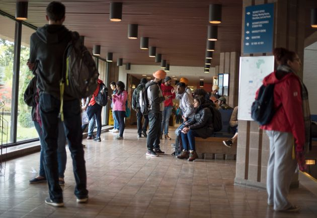 Students are seen in a 2018 stock photo at Lakehead University in Thunder Bay,
