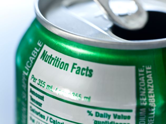 Nutritional information is included on soda cans, but not on alcoholic