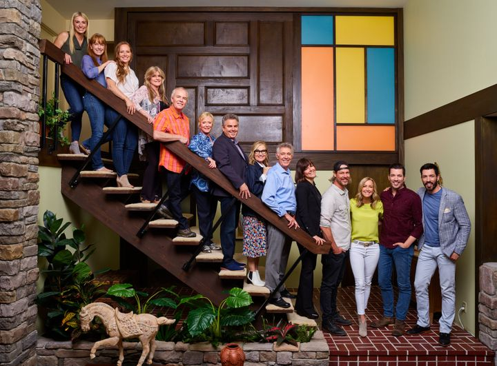 "The original ""Brady Bunch"" cast with HGTV hosts."