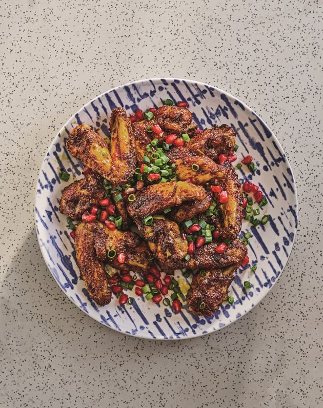 Sour lime and pomegranate wings from Adeena Sussman's new cookbook