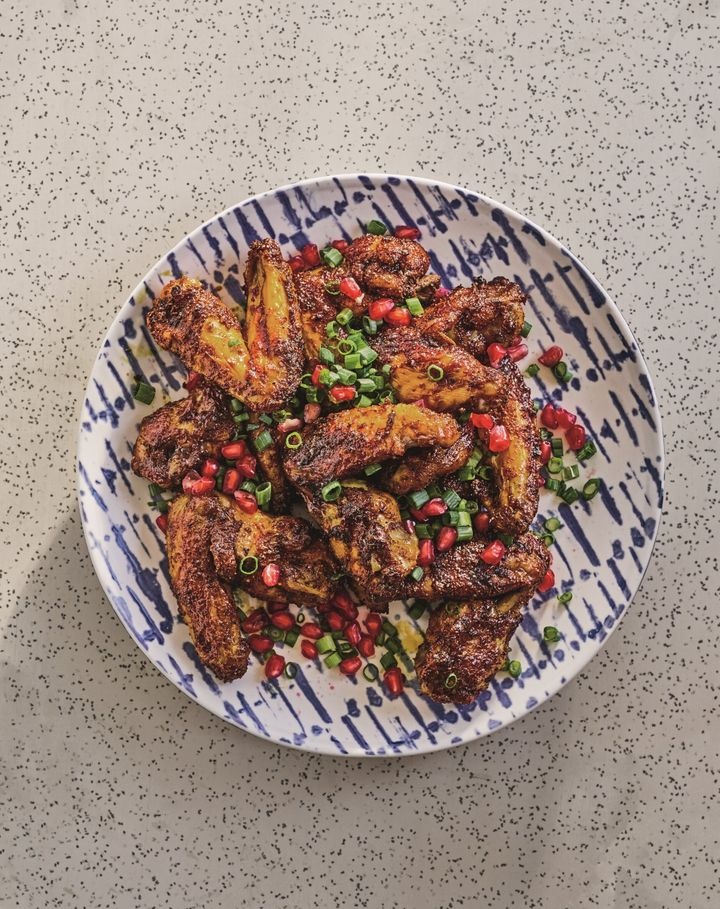 "Sour lime and pomegranate wings from Adeena Sussman's new cookbook ""Sababa."""