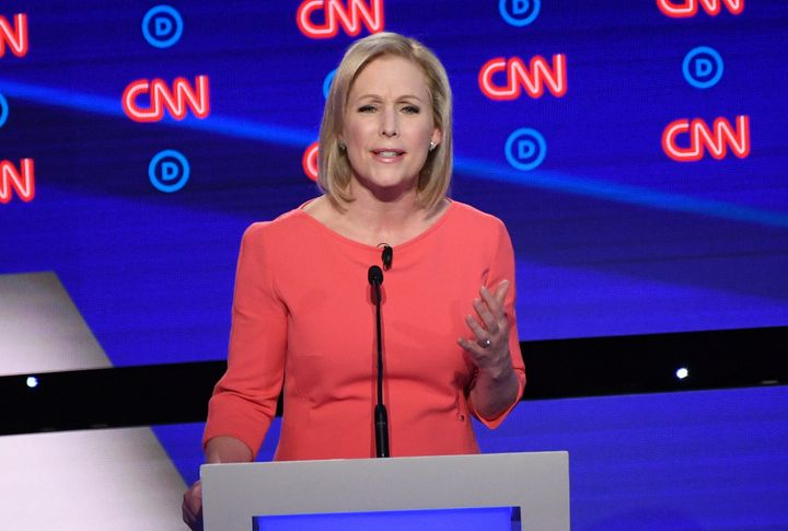 Sen. Kirsten Gillibrand highlighted her anti-Trump record and past political advocacy and legislation in her run for presiden