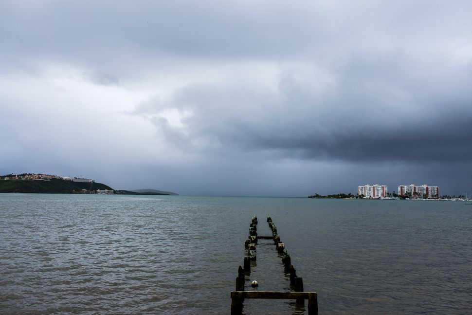 Puerto Rico prepares to receive the hit of Tropical Storm Dorian today August 28, 2019 in Fajardo, Puerto Rico. Tropical Stor