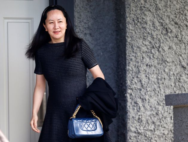 Huawei's Financial Chief Meng Wanzhou leaves her family home in Vancouver on May 8,