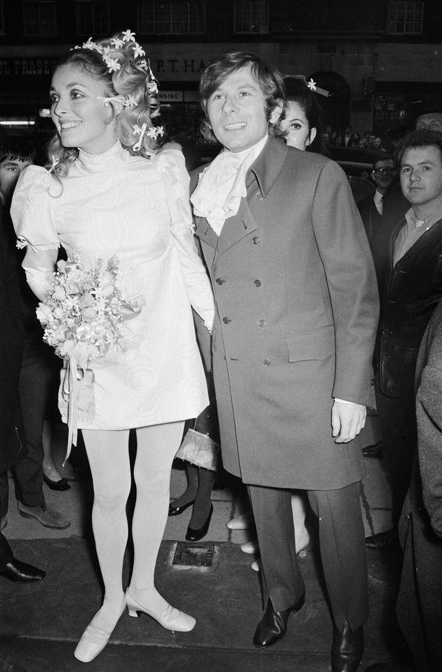 1968年1月に撮影された、シャロン・テートとロマン・ポランスキーの結婚式の様子。