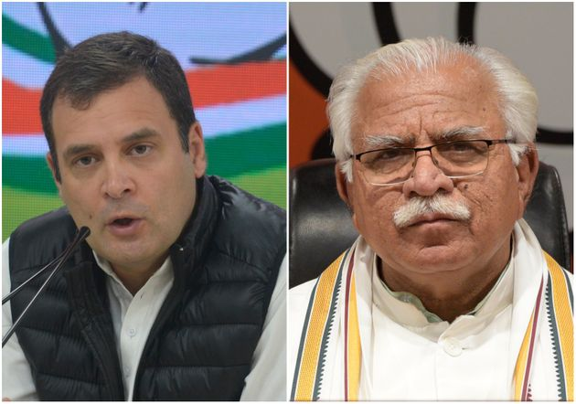 Rahul Gandhi and Manohar Lal