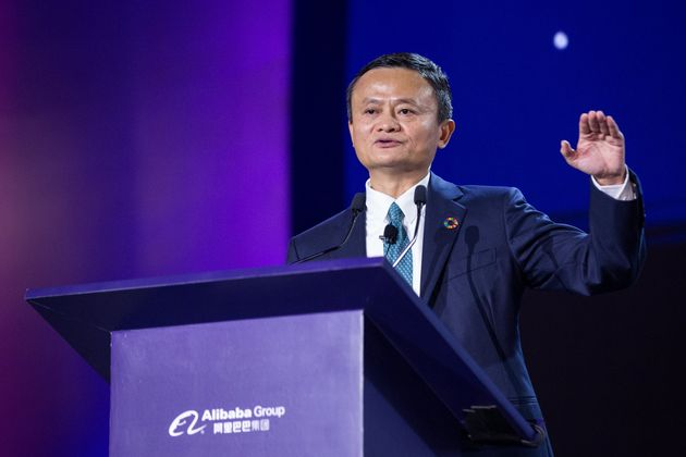 HANGZHOU, CHINA - AUGUST 28: Alibaba Group Chairman Jack Ma speaks during 2019 Global Conference on Women...