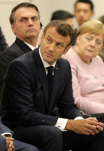 Bolsonaro, Macron y Merkel, en la cumbre del
