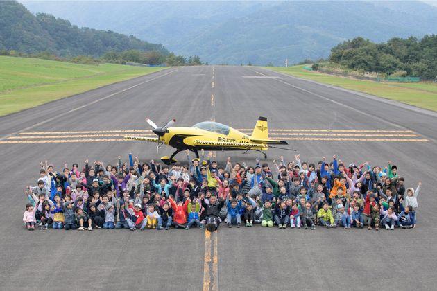 福島県と共に開催したスカイスポーツ教室での一枚