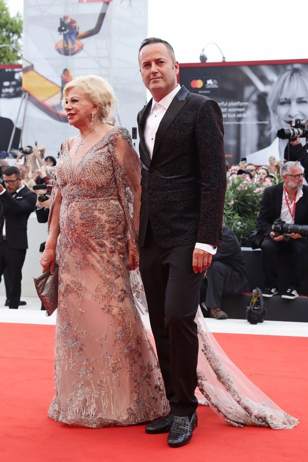VENICE, ITALY - AUGUST 28: Sandra Milo (L) walk the red carpet ahead of the Opening Ceremony and the...