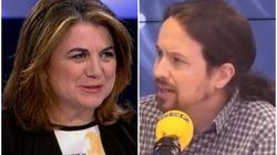 Lucía Méndez, indignada con Pablo Iglesias por desvelar una conversación privada con