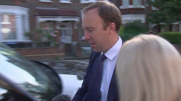 Health Secretary Matt Hancock ignored reporters' questions over the prorogation of Parliament, after...