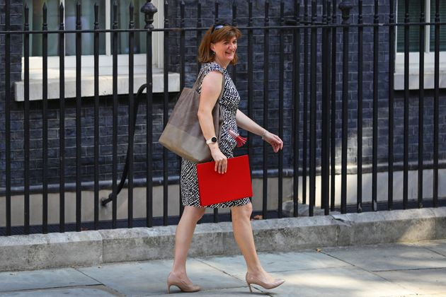 Newly installed Secretary of State for Digital, Culture, Media and Sport Nicky Morgan leaves 10 Downing...