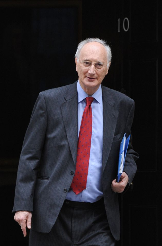 Sir George Young leaving Downing Street,