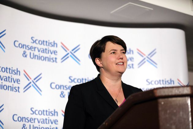 Leader of the Scottish Conservatives Ruth Davidson during a press conference at Holyrood Hotel in Edinburgh,...