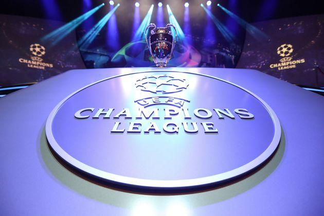 Le trophée de la Ligue des champions avant le tirage au sort à Monaco jeudi 29