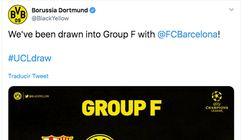El Borussia de Dortmund triunfa con este tuit tras tocarle el Barça en el sorteo de la
